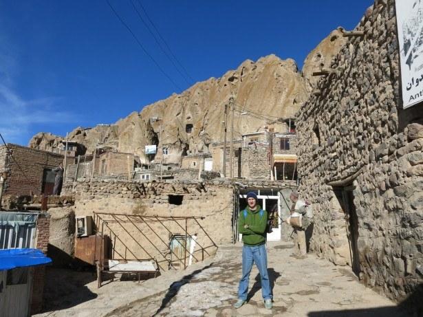 Backpacking in Iran: Visiting Kandovan Cave Town near Osku