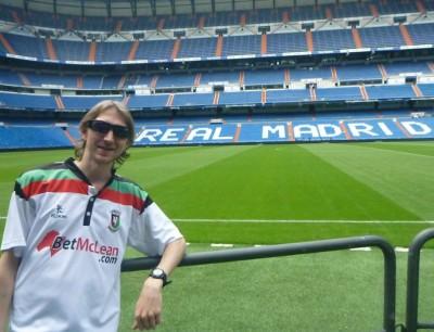 Touring the mightily impressive Estadio Santiago Bernabeau, home of Real Madrid CF.