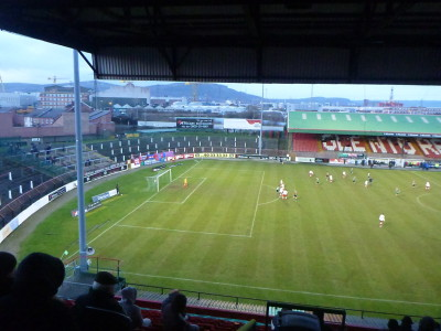 Glentoran FC's Oval Grounds in Belfast