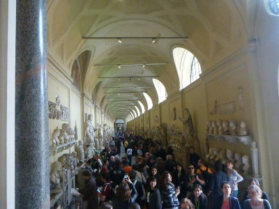 First entry into the Museums - this massive corridor