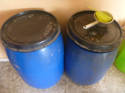 Olive Oil barrels at Wicem's