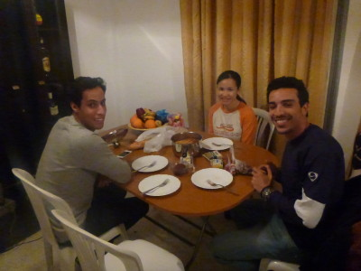 Dinner at Dhia's flat
