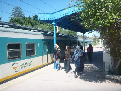 Take the TGM train to Carthage from Tunis