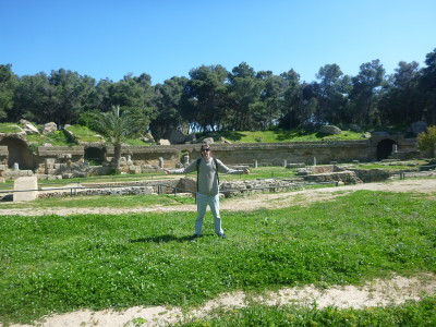 The Roman Ampitheatre ruins on the edge of the town of Carthage