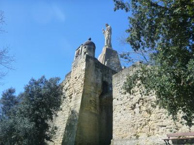 Jesus Statue at Mount Urgull