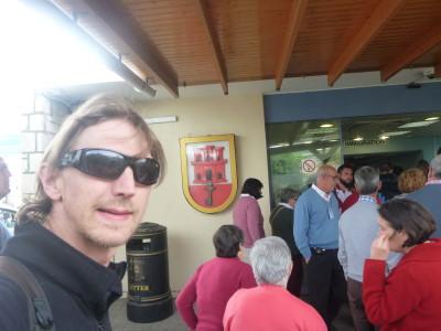 Crossing the border into Gibraltar