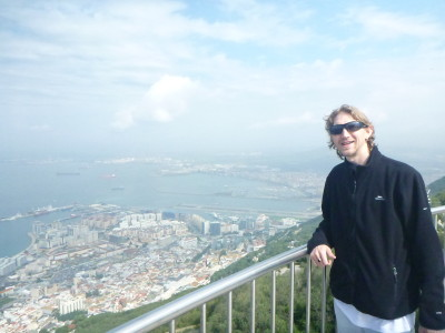 Overlooking Gibraltar from the top of the Rock