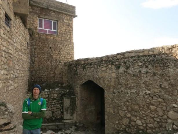 At the walls of Amadiya in Iraqi Kurdistan