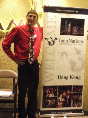 Enjoying my time as a Welcome Host for Internations in Hong Kong