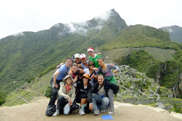 Our group photo inside Machu Picchu on Christmas Day 2010.