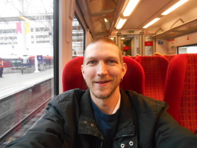 On the train in England