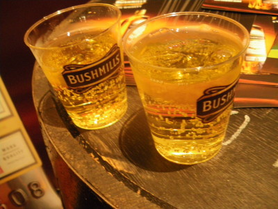 Give me a shot of Bushmills whiskey please.