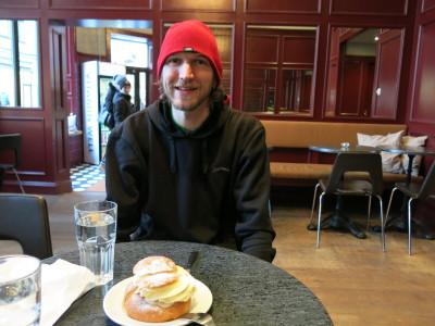 Trying Semla in Stockholm, Sweden