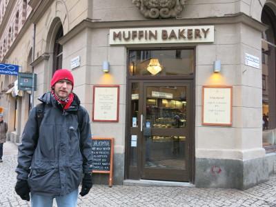 Outside Muffin Bakery in Stockholm, Sweden