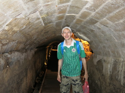 Backpacking in the town of Akko, Israel