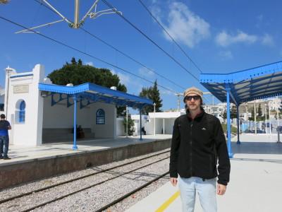 Sidi Bou Said train station on the TGV.
