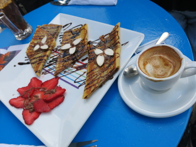 Coffee and crepes in Sidi Bou Said