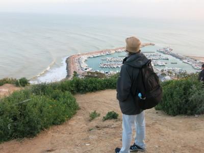 Admiring the Marina at Sidi Bou Said