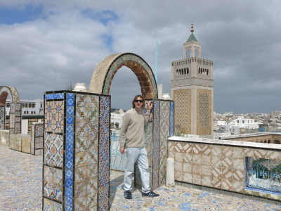 Overlooking the fantastic Zaytouna Mosque in Tunis, Tunisia