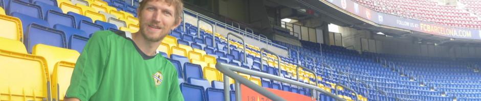 In the Camp Nou, Barcelona
