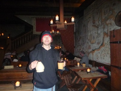 The medieval appeal of the Olde Hansa Bar in Tallinn, Estonia.