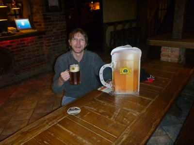 Really enjoying my pint in Beer House Bar