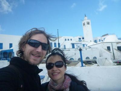 Enjoying Sidi Bou Said in Tunisia