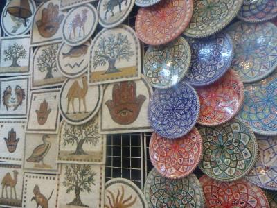 Ceramics in the market at Sidi Bou Said
