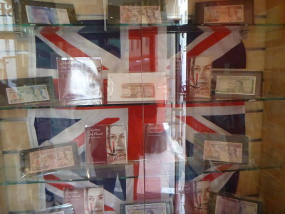 Gibraltar issues its own money in Gibraltar pounds and pence but you can only spend Euros in Spain