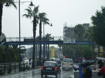 The walk from Gibraltar Town to the border - follow the signs for Spain/La Linea