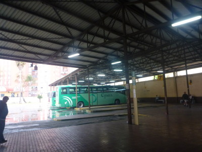 Bus station in La Linea de la Concepcion, Spain