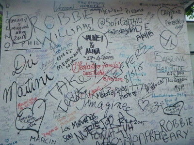 Graffiti on the wall at Abbey Road