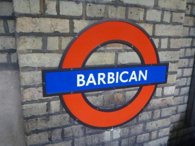Barbican tube station in London, England (for Poirot's flat!)