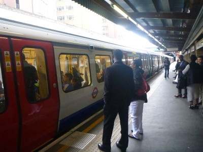 The tube at Barbican, London
