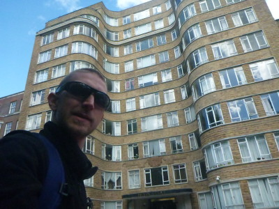 Backpacking In England: Visiting Poirot's Flat, Whitehaven Mansions, Barbican, London