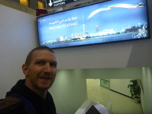 Arrival in Kuwait International Airport
