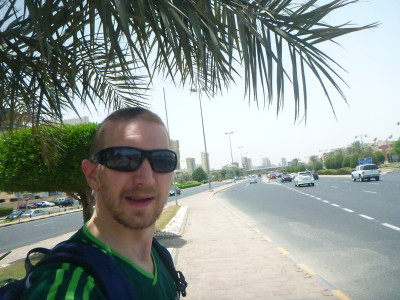 Walking along Arabian Gulf Street
