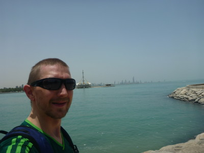 Walking by the Arabian Gulf near the hotel