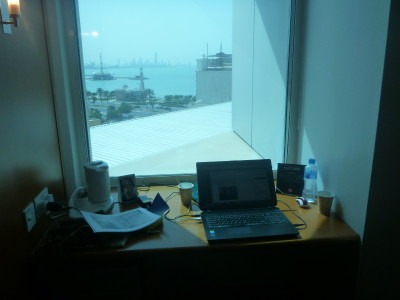 My working desk with super fast Wi-Fi