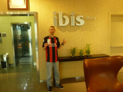 Arrival at the Ibis Hotel Sharq in Kuwait