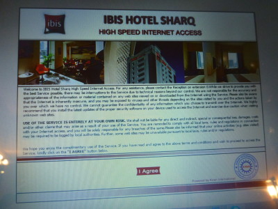 Hi speed WiFi at Ibis Hotel Sharq