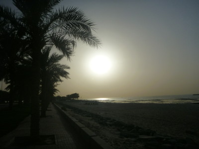 Sunset at the Corniche/Arabian Gulf Street