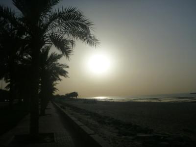 Sunset at the Corniche/Arabian Gulf Street