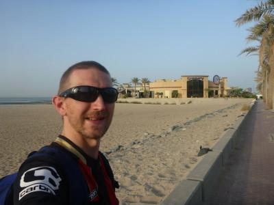 By the beach in the Corniche, Kuwait City