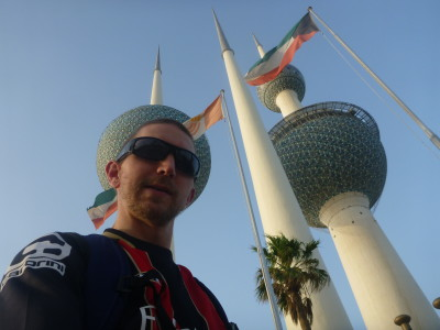 A selfie at the Kuwait Towers