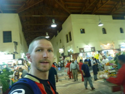 The only tourist touring the Souq
