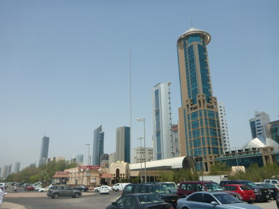 Backpacking in Kuwait City - skyscrapers all around