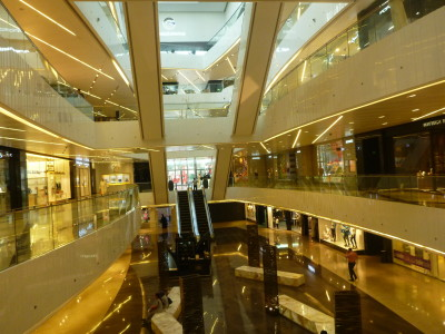The elaborate Al Hamra Mall