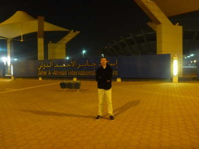 Outside the National Football Stadium in Kuwait.