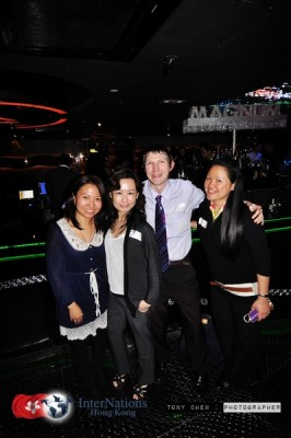 Happy times at an Internations event in Magnum Club, Hong Kong